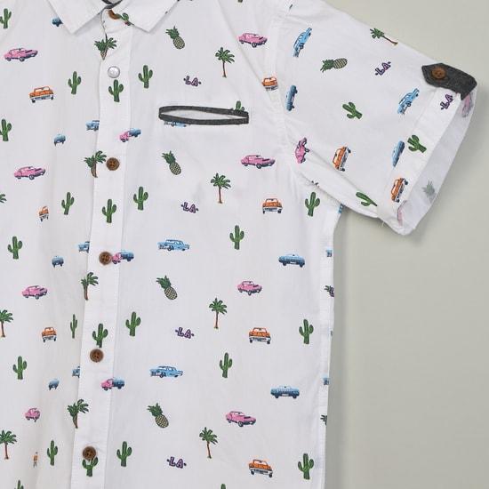 MAX Printed Spread Collar Shirt