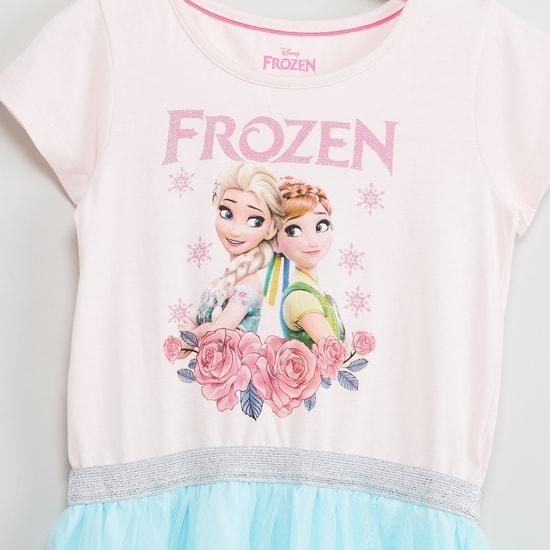 MAX Frozen Print Colourblock Dress