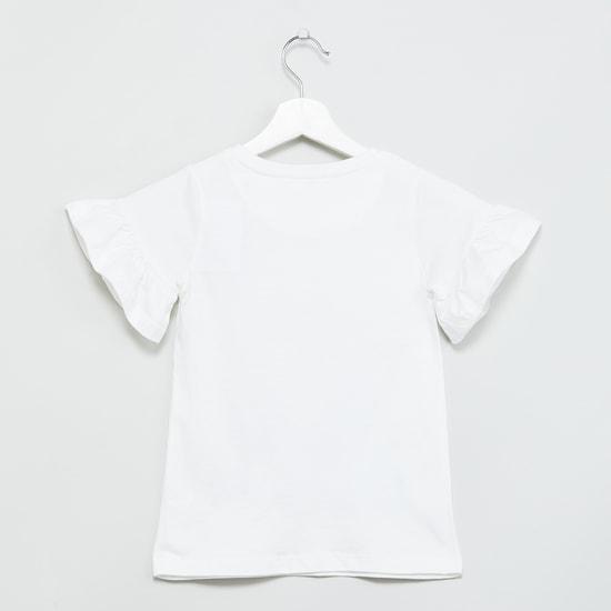 MAX Printed Bell Sleeves Top