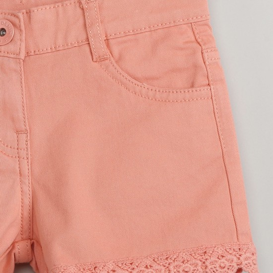 MAX Solid Crochet Shorts