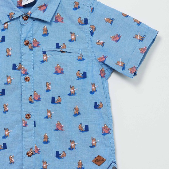MAX Animal Print Short Sleeves Shirt