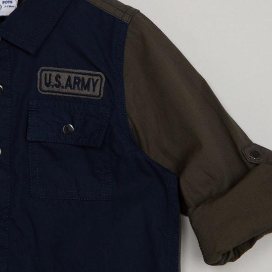 MAX Colourblocked Spread Collar Shirt