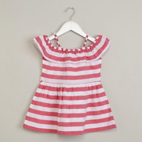 MAX Striped Fit & Flare Dress