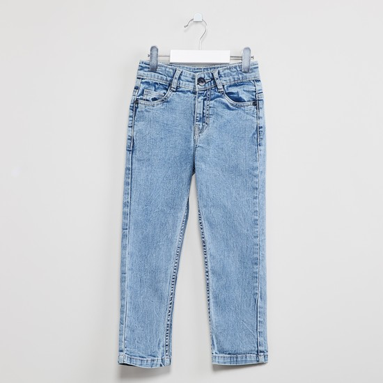 MAX Mid-Washed 5-Pocket Jeans