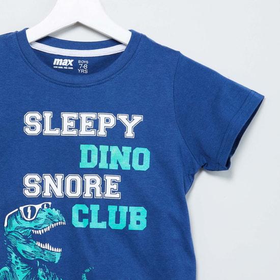 MAX Printed Lounge T-shirt & Pyjamas - Set of 2 Pcs.