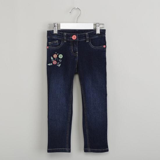 MAX Embroidered Dark Wash Slim Fit Jeans