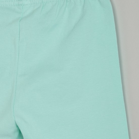 MAX Solid Leggings with Bow Applique