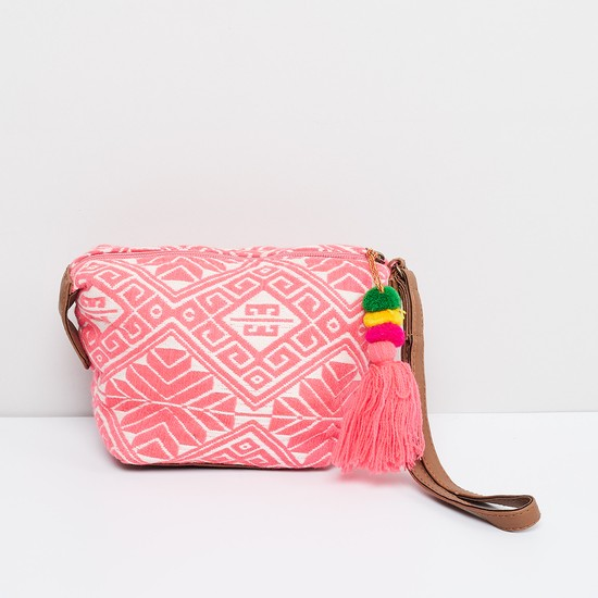 MAX Embroidered Pouch with Tassel Detail