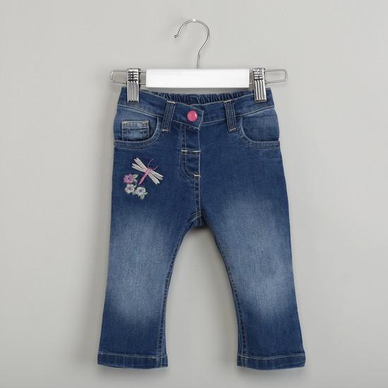MAX Stonewashed Jeans with Embroidered Detail