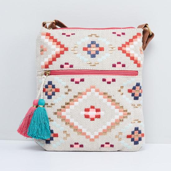 MAX Jacquard Patterned Sling Bag