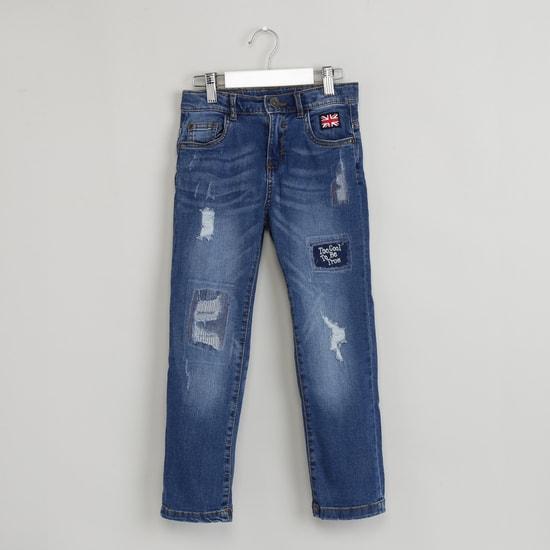 MAX Slim Fit Distressed Jeans
