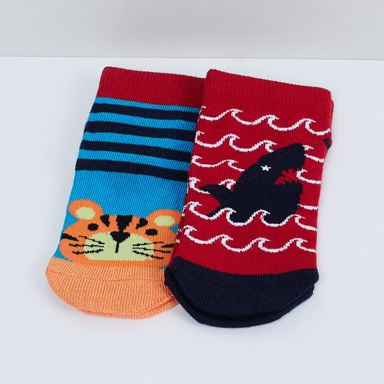 MAX Patterned Ankle-Length Socks - Set of 2