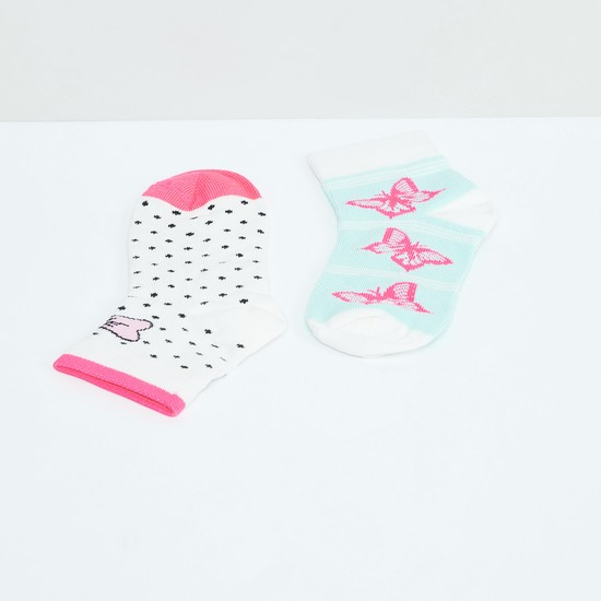 MAX Butterfly Print Socks - Pack of 2