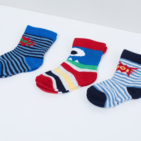 MAX Printed Anklet Socks - Pack of 3 Pcs.