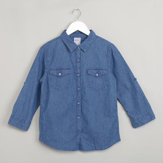 MAX Spread Collar Denim Shirt