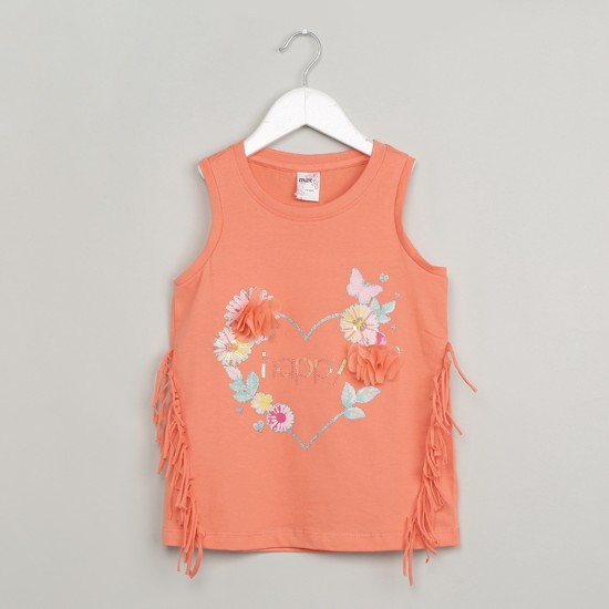 MAX Sequinned Fringed Top