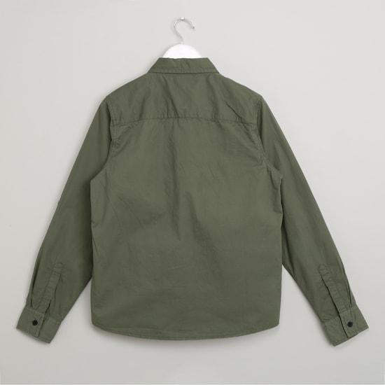 MAX Solid Spread Collar Shirt