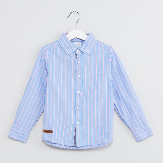 MAX Striped Button-Down Collar Casual Shirt