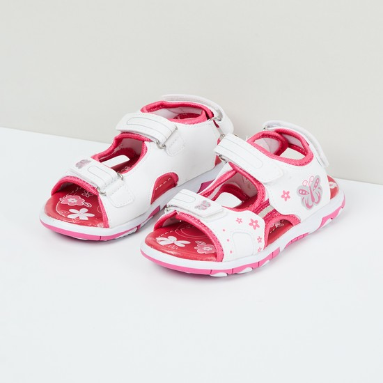 MAX Floral Print Slingback Sandals