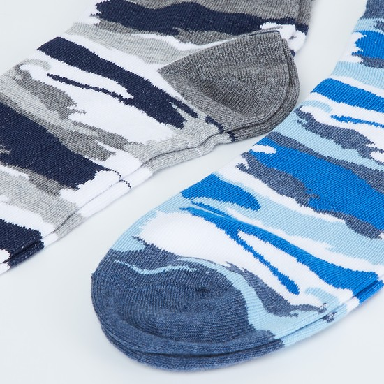 MAX Camouflage Print Anklet Socks - Pack of 2 Pcs.