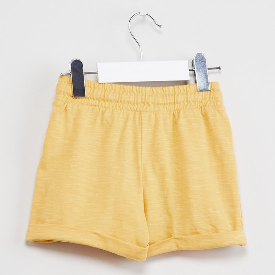 MAX Upturned Hems Lace Detail Shorts