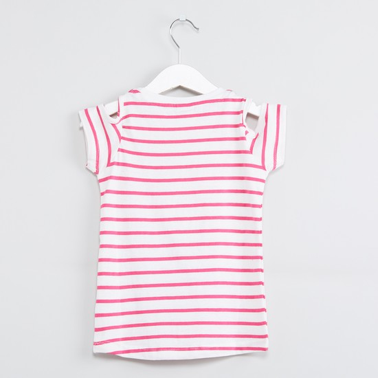 MAX Striped Sequin Detailed Top