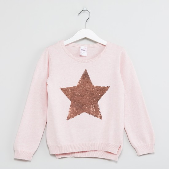 MAX Star Sequinned Sweater