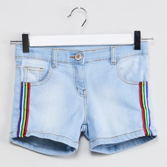 MAX Light Washed Denim Shorts