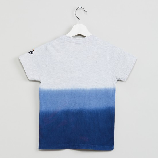MAX Ombre Detail Short Sleeves Crew Neck T-shirt