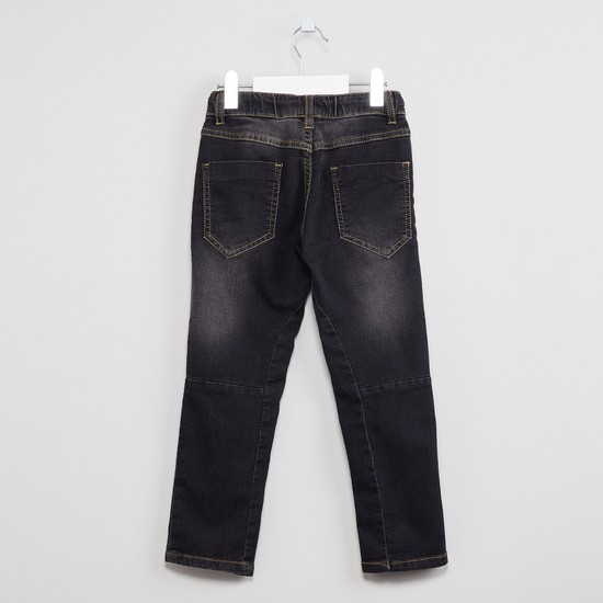 MAX Lightly Washed Jeans with Zip Pockets