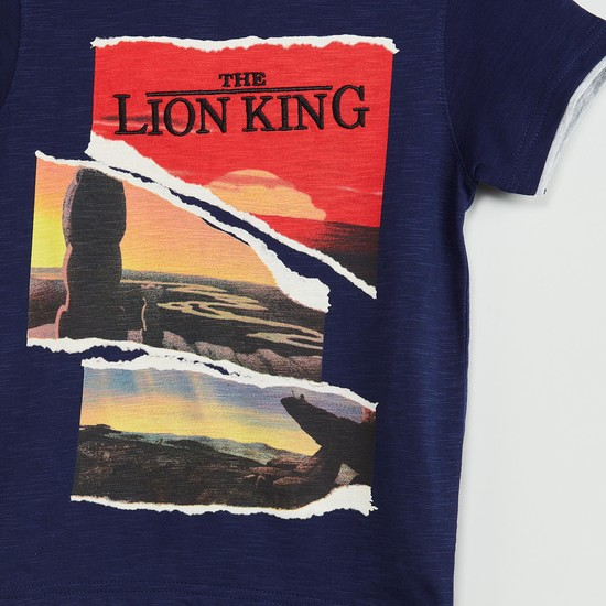 MAX The Lion King Print Crew-Neck T-shirt
