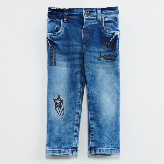 MAX Printed Stonewashed Jeans