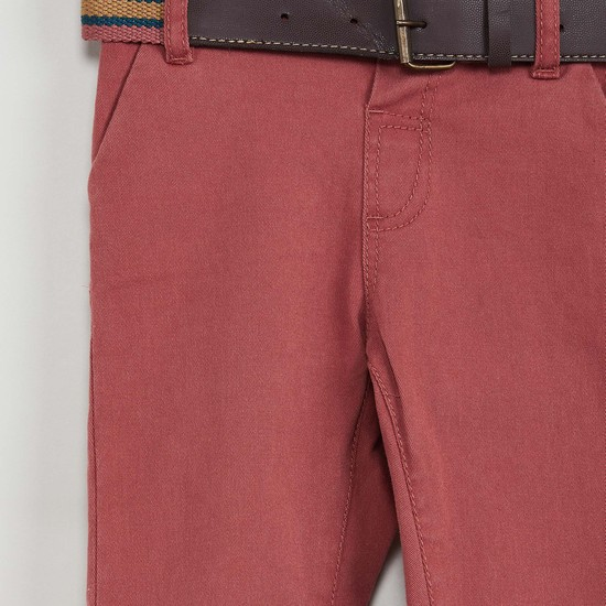 MAX Solid Pants with Belt