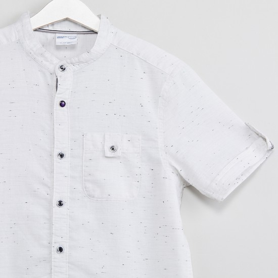 MAX Roll-Up Sleeves Speckled Shirt