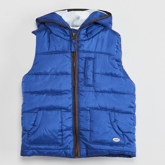 MAX Sleeveless Quilted Hooded Jacket
