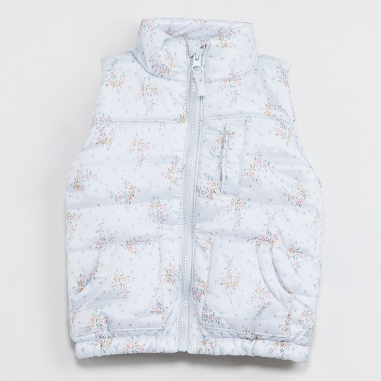 MAX Floral Print Padded Gilet Jacket
