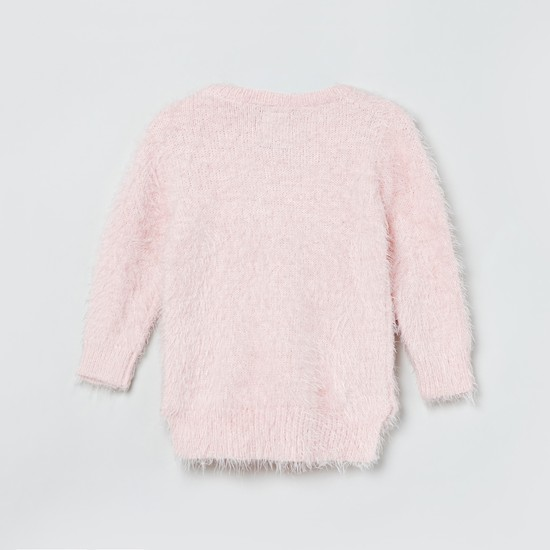 MAX Embellished Round Neck Sweater