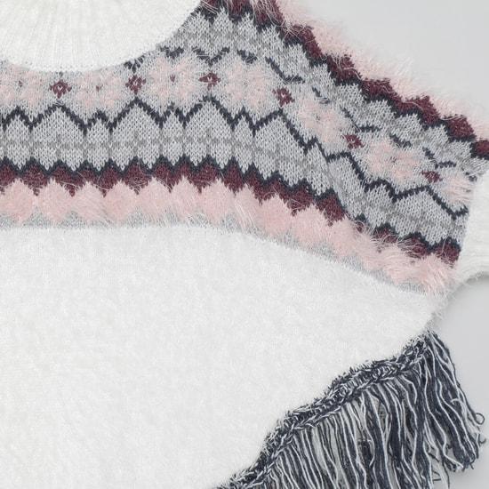 MAX Jacquard Patterned Kaftan Sweater