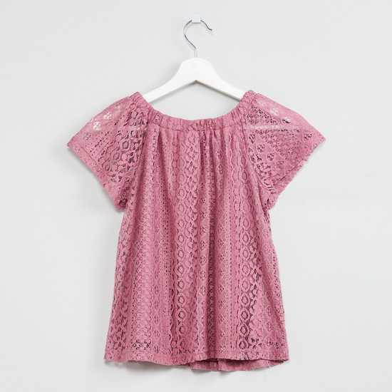 MAX Lace Detailed Top