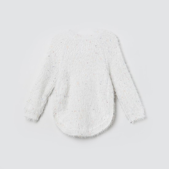 MAX Textured Sweater with Full Sleeves