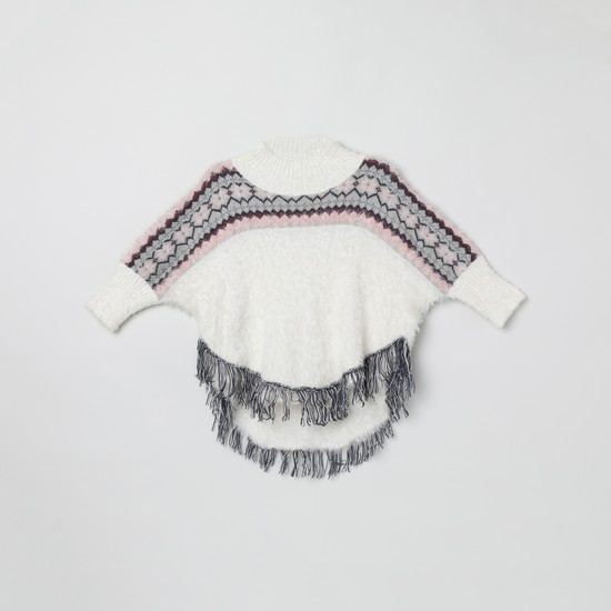 MAX Jacquard Patterned Dolman Sleeves Sweater