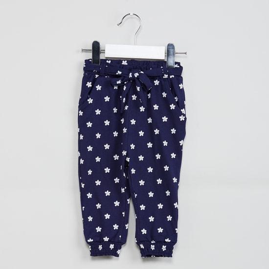 MAX Floral Print Tie-Up Waist Pants