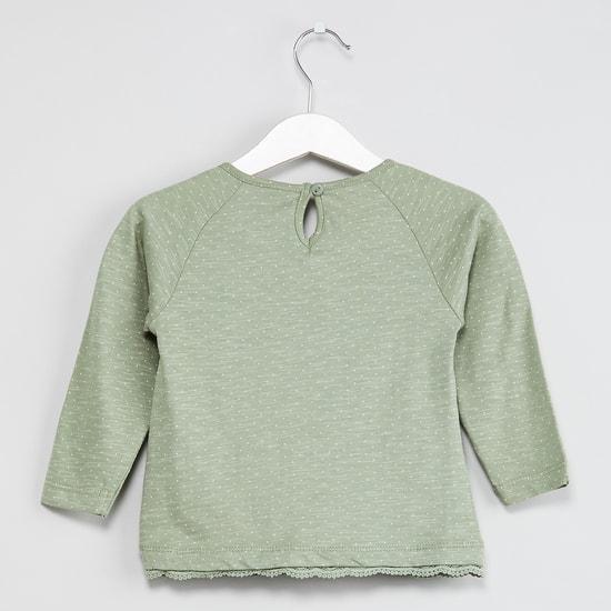 MAX Raglan Sleeves Embellished Top