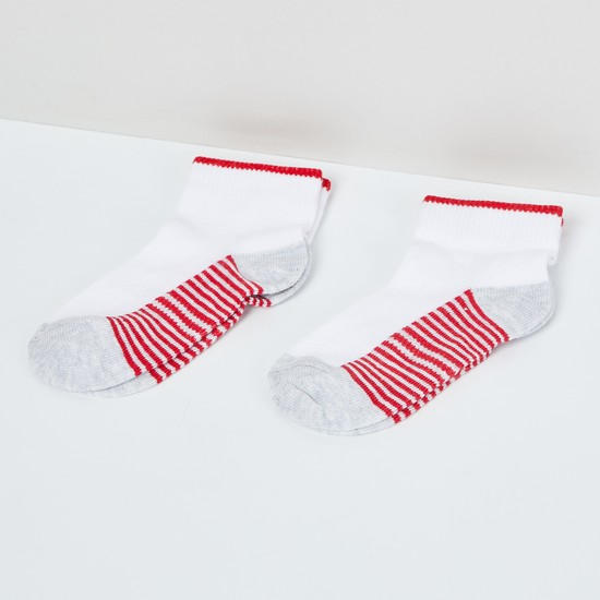 MAX Striped Colourblock Socks - Pack of 2 - 2-4Y