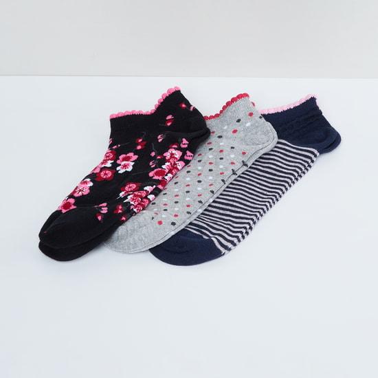 MAX Printed Anklet Socks - Pack of 2 Pcs.