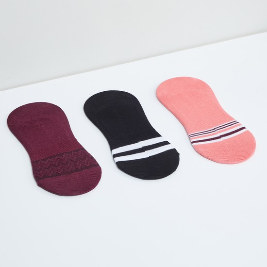 MAX Striped Footlets - Pack of 3
