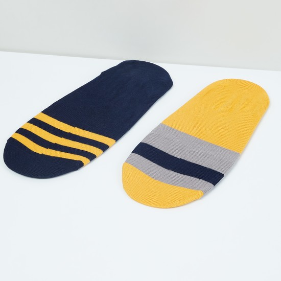 MAX Striped No-Show Socks - Pack of 2 Pcs.