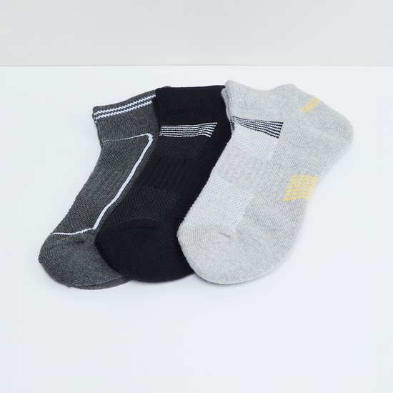 MAX Printed Anklet Sports Socks - Pack of 3 Pcs.