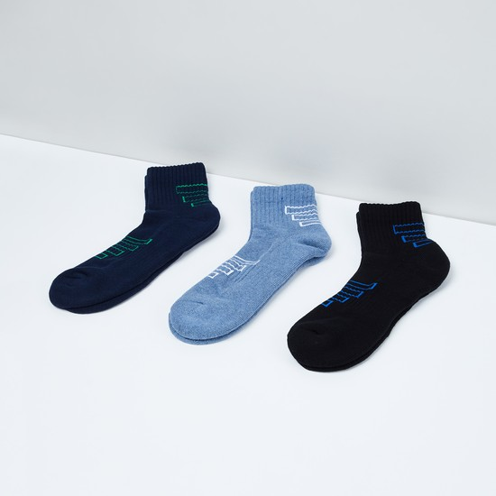 MAX Jacquard Patterned Ankle-Length Socks - Pack of  3 Pairs.