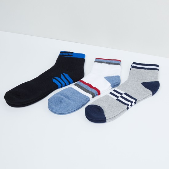 MAX Colourblock Anklet Socks - Pack of 3 Pcs.